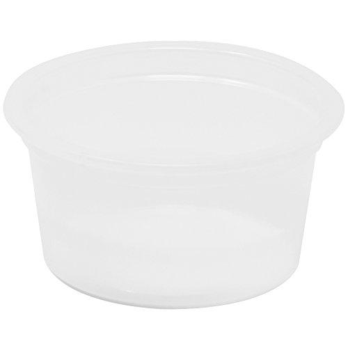 Sauce Ounce 0.5 (Simply Deliver 0.5 oz Soufflé Portion Cup, Translucent PS, 5000-Count)