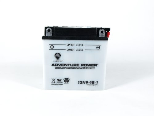 UPG 12N9-4B-1 - OEM 12N9-4B-1 - Motorcycle Battery - Conventional Wet Pack - 12 Volt - 9 Ah Capacity - F Terminal