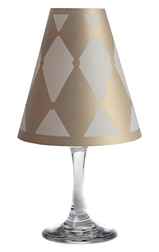 di Potter WS324 Vienna Drum Paper White Wine Glass Shade, Gold (Pack of 12) by di Potter