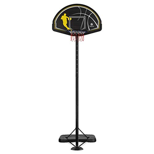 (Fitnessclub Portable Basketball Hoop System, Height Adjustable Outdoor Basketball Hoop Stand, 44