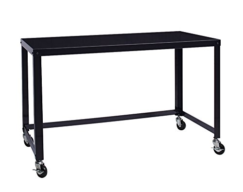 Space Solutions Portable Office Desk / Workstation With Wheels   Home Office  Collection 29.5u0027u0027