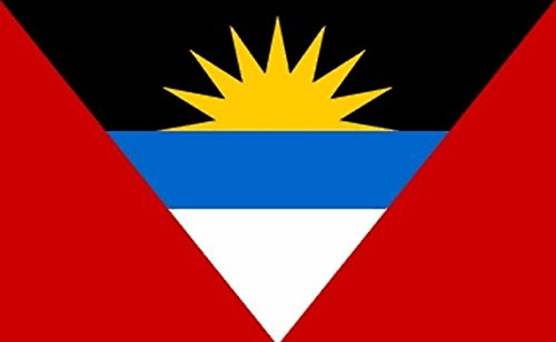 Perfectflags Antigua and Barbuda Flag 5ft x 3ft Large - 100% Polyester - Metal Eyelets - Double ()