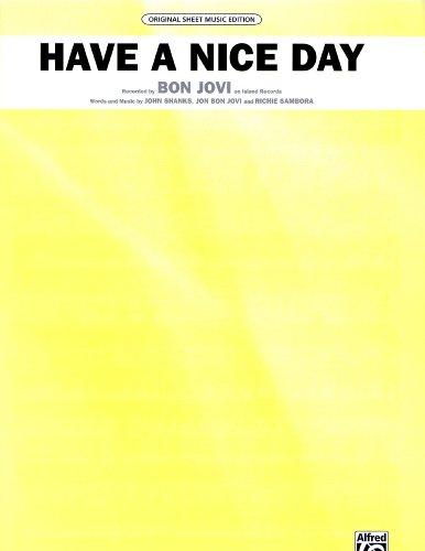 Nice Day Sheet Music - Bon Jovi....