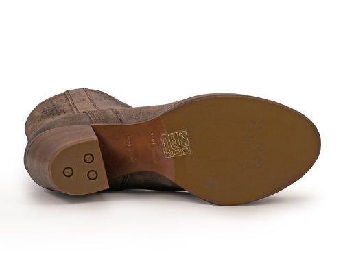 Car Shoe Damen KDT63H0B2F0308 Grau Leder Stiefeletten