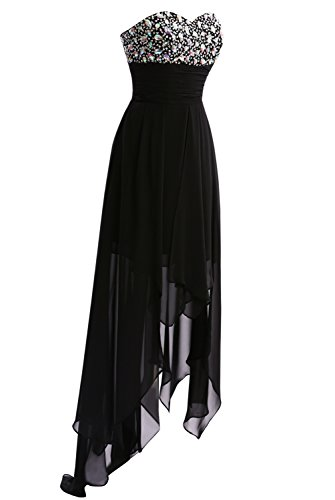 Prom Women Long Party Coral Low Chiffon s Dress Gown High Cocktail Bridesmaid Dasior 40pCd0