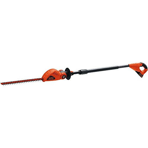 (BLACK+DECKER LPHT120 18-inch 20-Volt Lithium-Ion Cordless Pole Hedge Trimmer)