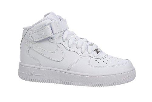 Nike Air Force 1 Mid (GS) Zapatillas de Baloncesto, Niños Blanco