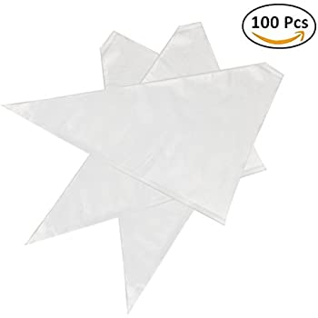 Thickened 100pcs/set Disposable Pastry Bag Icing Piping Bag Cake Cupcake Decorating Bags (12inch Thickened)