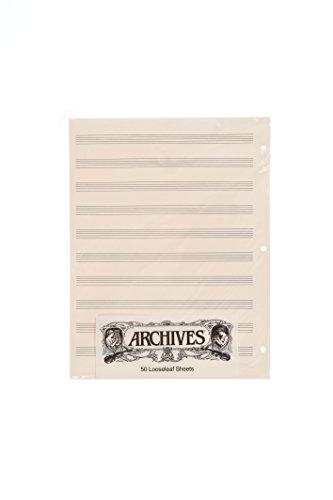 Archives Loose Leaf - Archives Looseleaf Manuscript Paper, 10 Stave, 50 Pages