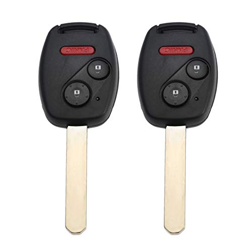 Transport-Accessories - 2pcs 3 Buttons Remote Key For Honda Odyssey Fit Ridgeline OUCG8D-380H-A 313.8Mhz ID46 Transponder Chip