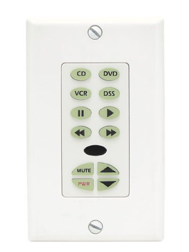 - SpeakerCraft MKP10 White Master Keypad with IR Receiver Control Unit, 13 Programmable Buttons