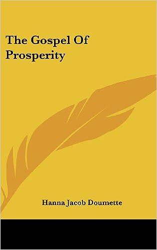 The Gospel of Prosperity
