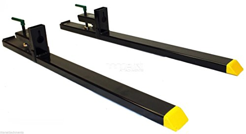HD Clamp on Pallet Forks 4000lbs capacity Loader Bucket Skidsteer Tractor chain ()