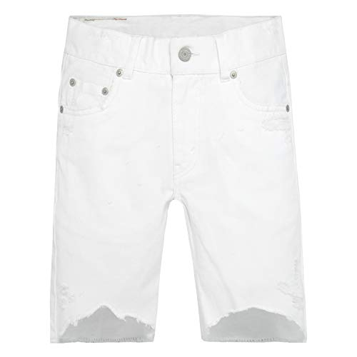 Levi's Little Boys' 511 Slim Fit Denim Shorts, White, 7X