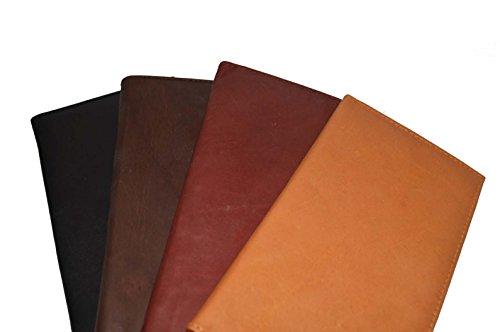 Checkbook Cover Holder Super Slim Plain Mens Womens Genuine Leather Cowhide New (Brown)