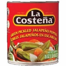 Whole Pickled (La Costena Whole Green Pickled Jalapeno Peppers (12x26 OZ) ( Multi-Pack))