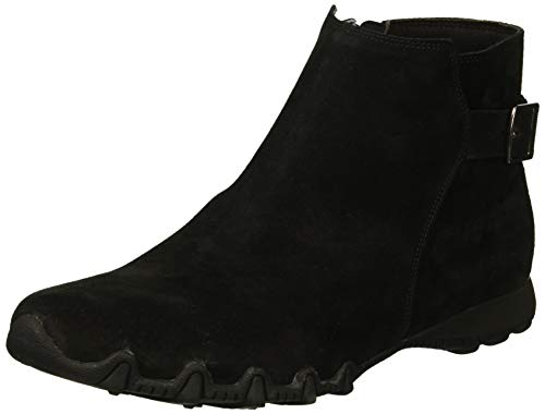 Skechers Women's Bikers - Patrol - Quarter Buckle Bootie with Inside Zipper Ankle Boot, Black, 7.5 M US ()