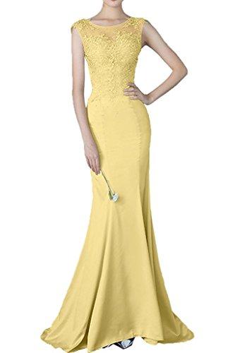 La Silber Promkleider Abendkleider Spitze Braut Marie Festlichkleider Bodenlang Gelb Meerjungfrau Abiballkleider rIqHEwIx1