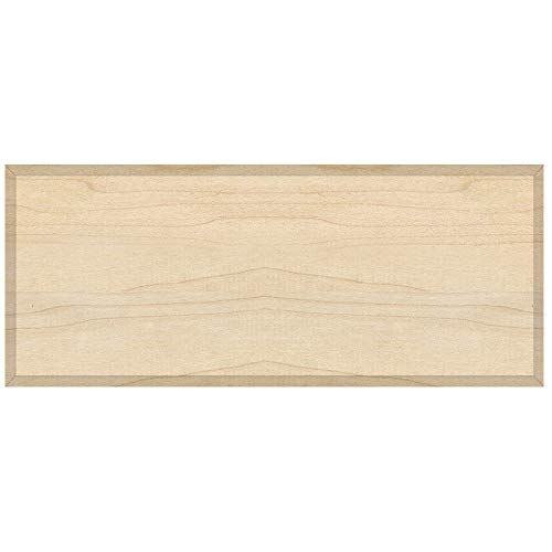 Unfinished Maple Flat Drawer Front with Edge Detail 3/4'' Thick - Choose Your Accurate Size (1/8, 1/4, 3/8, 1/2) by handyct