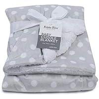 Bubba Blue Polka Dots Reversible Cuddle Blanket, Grey,