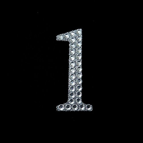 Efavormart Set of 10 Wholesale Crystal Birthday Anniversary Glittered Number Rhinestones for Wedding Event Decoration - 1