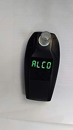 Fuel Cell Breathalyzer Professional Portable Alcohol Tester (Police Breathalyzer Quality) (Silver)