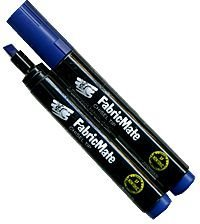 FabricMate Chisel Tip Fabric Marker, Blue