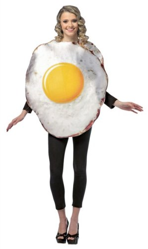 [Get Real Fried Egg Costume - One Size - Chest Size 42-48] (Fried Egg Fancy Dress Costume)