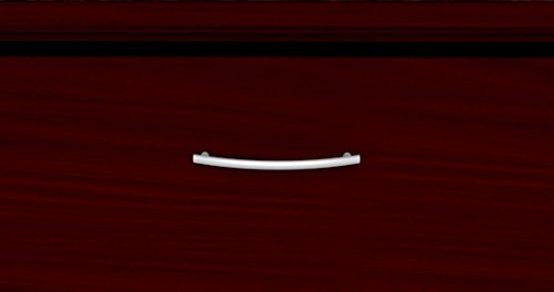 Cognac Cherry Box Cherryman Wood Veneer L Shaped Desk 72W X 90D X 30H Includes 2 Banks Of Box File Drawers Tops 1 1//8 Thick