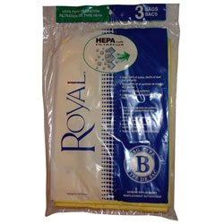 Dirt Devil , Royal Type B Upright Hepa Paper Bags 3 PK # 3871075001
