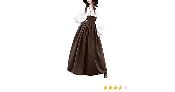 Mujer Vintage Lolita Falda Gótica Steampunk Falda Princesa Cintura ...
