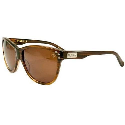 FLY GIRLS WINK FLY SUNGLASSES BROWN STRIPE/BROWN