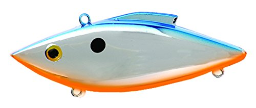 y-Trap, Chrome Blue with Orange Belly (Rat L-trap Tiny Trap)