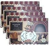 Set of 4 Fashion Placemats Durable Chef/Baker Pattern Ease Care Wipe Clean Table Place Mat Set