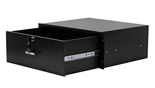 (19'' 4U Rack Mount DJ Rack Case Equipment Deep Drawer 4 Space Locking Lockable)