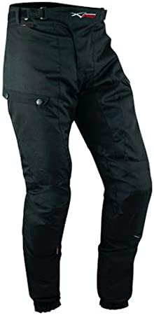 MBSmoto LP24/Roader da moto scooter Cruiser Touring impermeabile antivento pantaloni Cordura da donna in tessuto nero