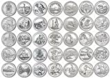 38 P National Park Quarters complete 2010-2017 with Folder Philadelphia (Ozark National Scenic River ways) Extremely Fine Details Uncirculated