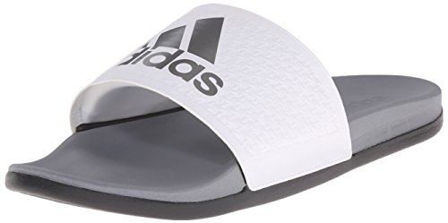 adidas Men's Adilette SC Plus SU M Sandals,White/Iron Metallic Grey/Vista Grey,10 M US