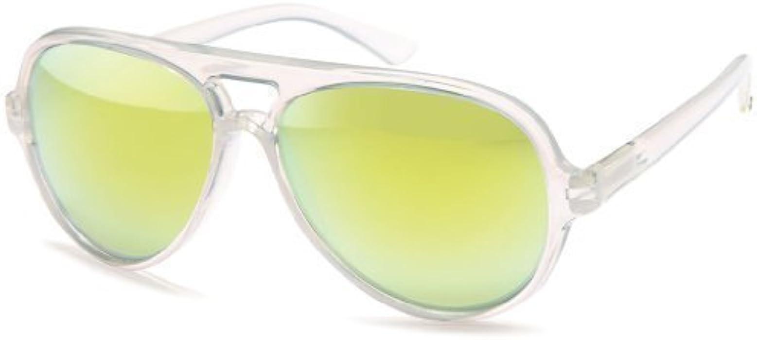 Sense42 Retro Pilotenbrille Sonnenbrille milchig transparent Rahmen ...