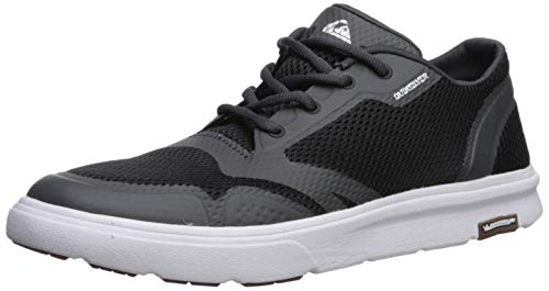 Quiksilver Men's Amphibian Plus Sneaker Black/Grey/White 12(45) M US