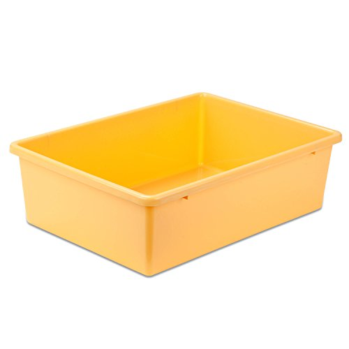 Honey-Can-Do PRT-SRT1602-LgYlw Large Plastic bin, Yellow