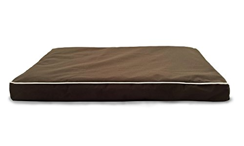 Furhaven Orthopedic Mattress Pet Bed, Medium, Espresso Solid