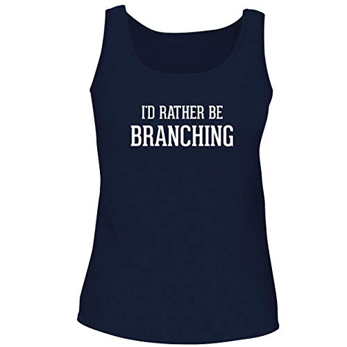 BH Cool Designs I'd Rather Be Branching - Cute Women's Graphic Tank Top, Navy, X-Large ()