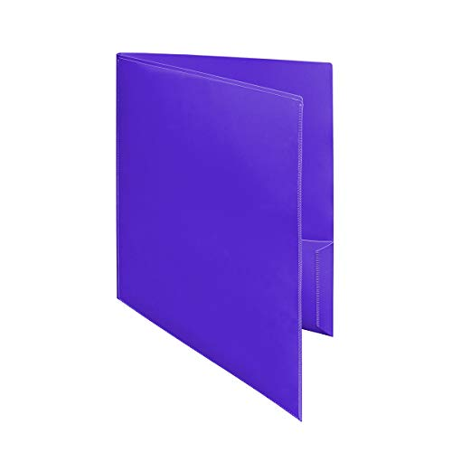 Ultra Pro - 10 pack, PURPLE 2-Pocket Folder with Clear Outside Pockets ()
