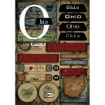 Stock Ohio - Scrapbook Customs - United States Collection - Ohio - Cardstock Stickers - Patchwork