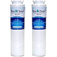 Whirlpool Maytag UKF8001 Pur 4396395 Compatible 2-Pack Best Choice Water Filters Certified Refrigerator Replacement For Kitchen Aid Amana Jenn-Air Viking UKF8001AXX Kenmore 46-9006 EveryDrop EDR4RXD1