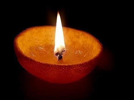 300 PC Hindu Mandir Pooja Religious Akhand Oil Lamp Craftsman 300 Pcs Handmade Round Cotton Wicks Jyote Batti for Diwali Deepawali Puja Diya