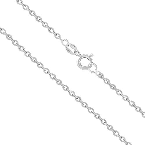 Honolulu Jewelry Company Sterling Silver 1.5mm Cable Chain (16 Inches)
