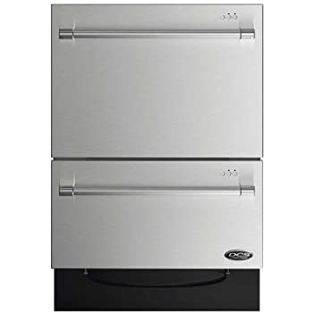 "DCS DD24DV2T7 24"" Energy Star Qualified Double DishDrawer Dishwasher with 14 Place Settings SmartDrive Technology 9 Wash Cycles and Child Lock: Stainless"
