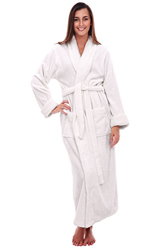 (Alexander Del Rossa Womens Turkish Terry Cloth Robe, Long Cotton Bathrobe, 3XL 4XL White (A0126WWH4X))